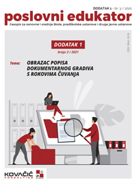 Časopis Poslovni Edukator 3/2021 Dodatak 1
